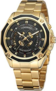 Men's Luxury Sport Skeleton Wrist Watches with Automatic Mechanical Movement
