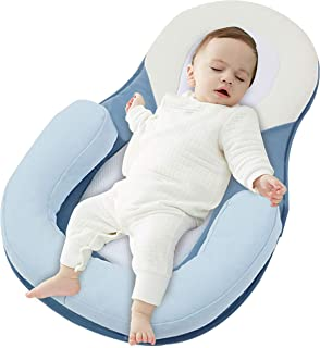 Newborn Baby Lounger Bed Breathable Portable Soft Bassinet Crib Sleeping Diaper Changing Day Dreamer Sleeper Seat Travel Nest Cushion Bassinet Pillow
