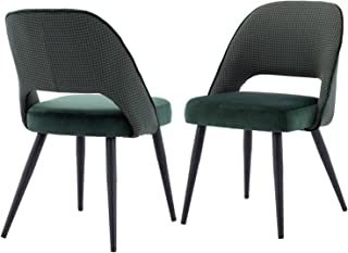 Kmax Modern Dining Chairs with Houndstooth Pattern Back,...
