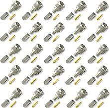 25 pcs of Crimps Connectors Mini-UHF Male 3-piece for RG-58/U Cable for Motorola Radios, Tram 1300