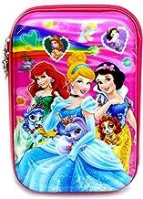 Priceless Deals Large Capacity Premium Quality Hardtop 7D Embossed Disney Princess Character Pencil Case for Kids