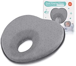 Baby Pillow for Newborn Infant(0-12months),Flat Head Syndrome Prevention 3D Memory Foam Can Support Head & Neck Pillow,Head Shaping Pillow,Heart Shaped