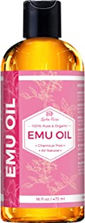 Leven Rose Emu Oil 100% Pure Natural Scar Minimizer Anti Aging Skin Moisturizer 16 oz