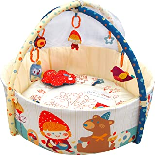 Qtot Bubo N Modi Deluxe Baby Play Gym with Mosquito Net Multi Color