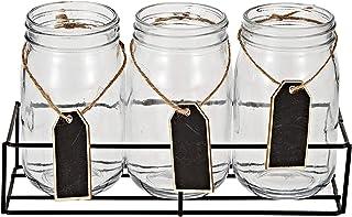 Harmony 2724623313979 4 Pieces Mason Jar with Metal Stand, 1 Unit