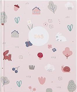 kikki.K ウッドランドワンダー デザイナーコレクション - 365日記 ハードカバーノート 365ページ 空白の番号付きページとプロモーション質問 年次日記