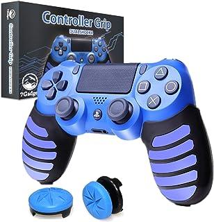 【7Gadget】 PS4 コントローラー DUALSHOCK4 PS4用 グリップ カバー & オリジナルアシストキャップ 並行輸入品 滑り止め シリコンカバー (ブルー)