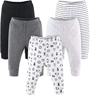 The Peanutshell Baby Pants Set for Boys or Girls   Black, Grey, & Safari Animals   5 Pack, Newborn to 24 Month Sizes