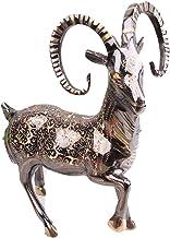 تمثال نصفي من XIAOLI تمثال خروف تمثال برونزي مطلي ديكور حيوان منحوتات ديكور المنزل مقتنيات فينج شوي تمثال ديكور المنزل