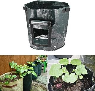 Bolsa de cultivo de plantas duraderas de PE Patata plegable Fresa Fruta Sembradora Saco Maceta con suelo o compost para jardín