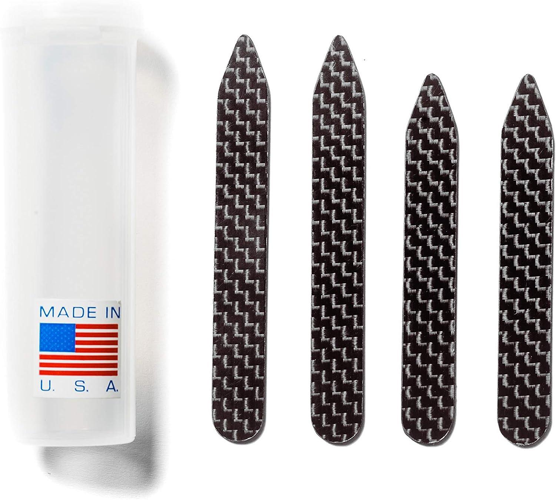Carbon Fiber Collar Stays Set - Collar Stiffeners - Mens - 2 Pairs - 2.5