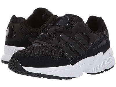 adidas Originals Kids Yung-96 J (Big Kid) (Black/White) Kids Shoes