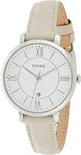 Fossil Jacqueline for Women - Analog Leather Band Watch - ES3793
