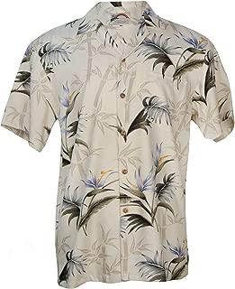 Aloha Bamboo Paradise - Men's Hawaiian Print Aloha Shirt - in Cream