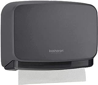 Bosharon Wall-Mounted Paper Towel Dispenser Bathroom Tissue Dispenser Tissue Holder (Grey)