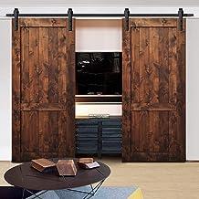 4M Sliding Barn Door Hardware Track Set Home Office Bedroom Interior Closet 150KG Door Weight Capacity