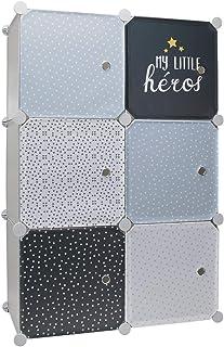 Home Deco Kids Rangement Armoire modulable 6 Cubes garçon