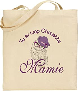 Grand Sac Shopping Plage Etudiant Mamie Fleur Peinture Aquarelle Grand Mere Amour