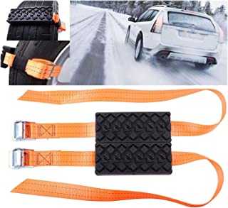 Podoy Car Tire Anti-Skid Block Vehicle Emergency Snow Chain Safe Drive Ice Chain Helpful in Winter for Car Truck SUV Outdoors (Pack of 2)