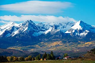 Snow Covered Rocky Mountains Rural Landscape Photo Photograph Cool Wall Decor Art Print Poster 36x24