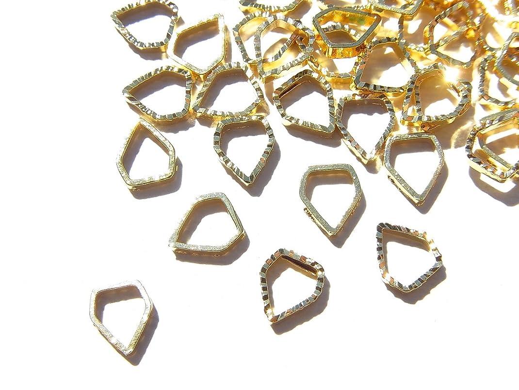 ガロンそれぞれ地雷原【jewel】ゴールド 立体メタルパーツ 10個入り ダイヤモンド 型 直径5.5mm 厚み1mm 手芸 材料 レジン ネイルアート パーツ 素材