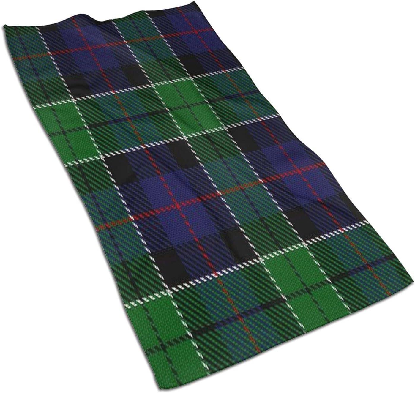 trend rank Scottish Clan Leslie Blue Green Hand Face Towels Tartan New mail order
