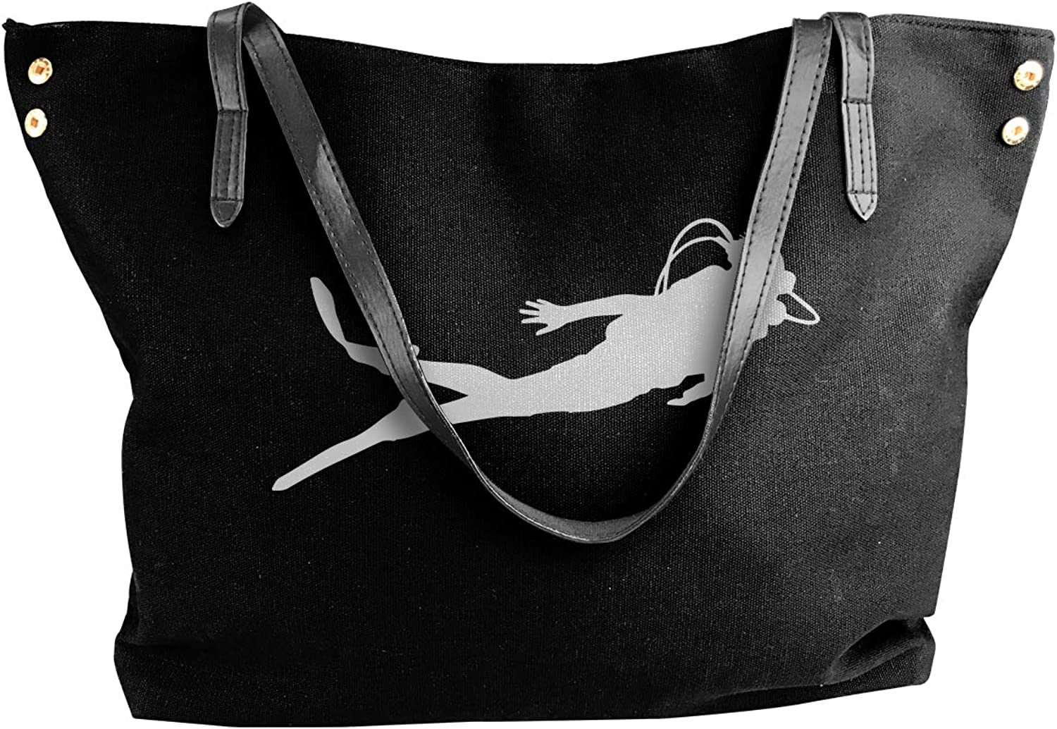 Scuba Diver-1 Women'S Leisure Canvas Sling Bag For School Handbag