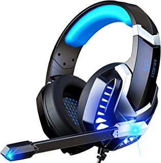 MuGo J30 Gaming Headset, Gaming Headphones Over Ear Headphones for PC Laptop Mac PS4 PS5 Xbox One, HD Stereo Surround Soun...
