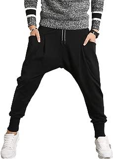 Men's Joggers, Sweatpants, Low Crotch Sweats Slim Fit Trousers Harem Hip Hop Pants