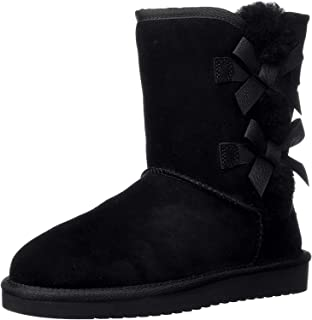 Koolaburra by UGG womens Victoria Short Fashion Boot, Black/Black/Black, 7 US