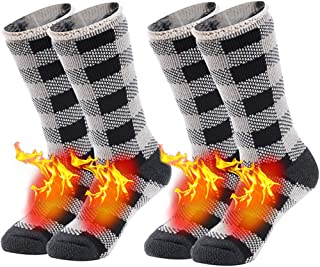 Warm Thermal Socks, Sunew Unisex Thick Insulated Heated Winter Heavy Crew Socks