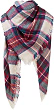 Women's Long Plaid Blanket Chunky Oversized Winter/Fall Warm Scarf Big Tartan Scarves Wrap Shawl