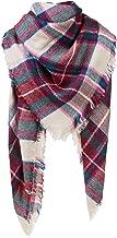 Women's Long Plaid Blanket Chunky Oversized Winter/Fall Warm Scarf Big Tartan Scarves Wrap Shawl