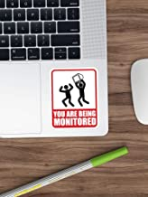 You are Being Monitored Stickers Vinyl Decal for Cars, Trucks, Water Bottle, Fridge, Laptops (Longest Side 4