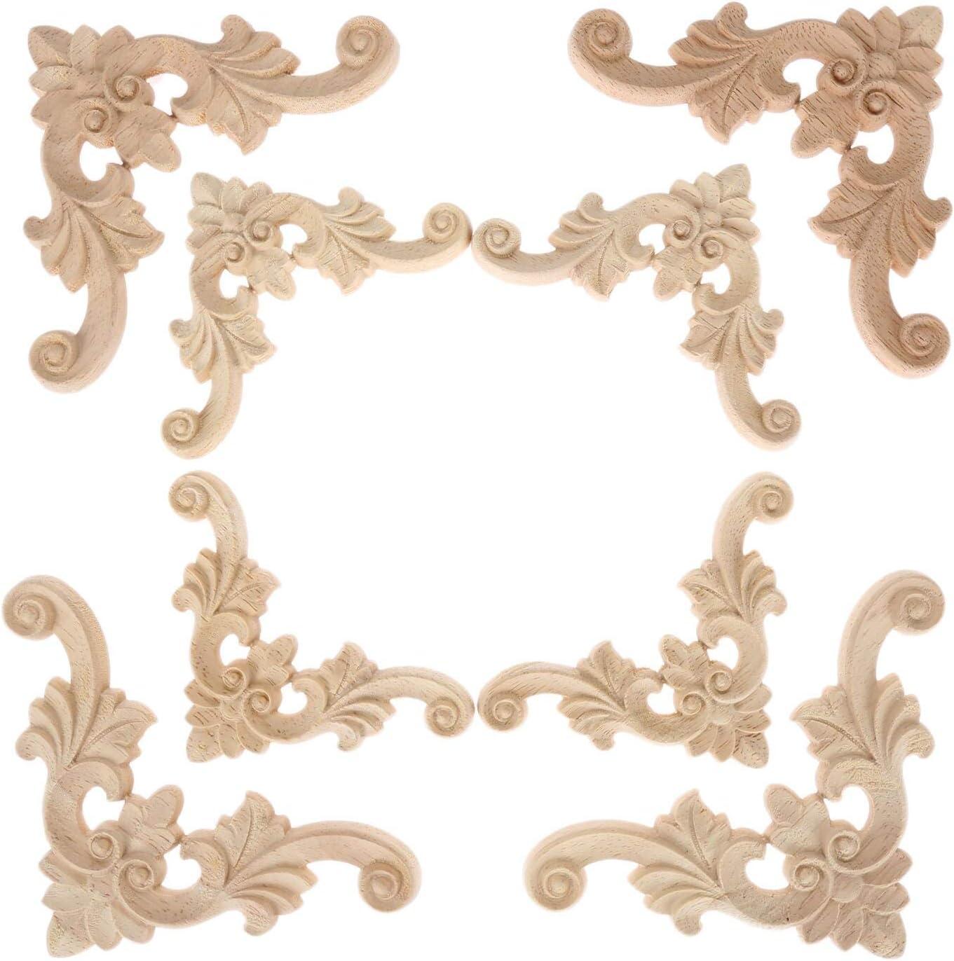 Manufacturer regenerated product Fetcus Superlatite Corner Brackets - 4pcs Woodcarving 110mm C Decal Applique
