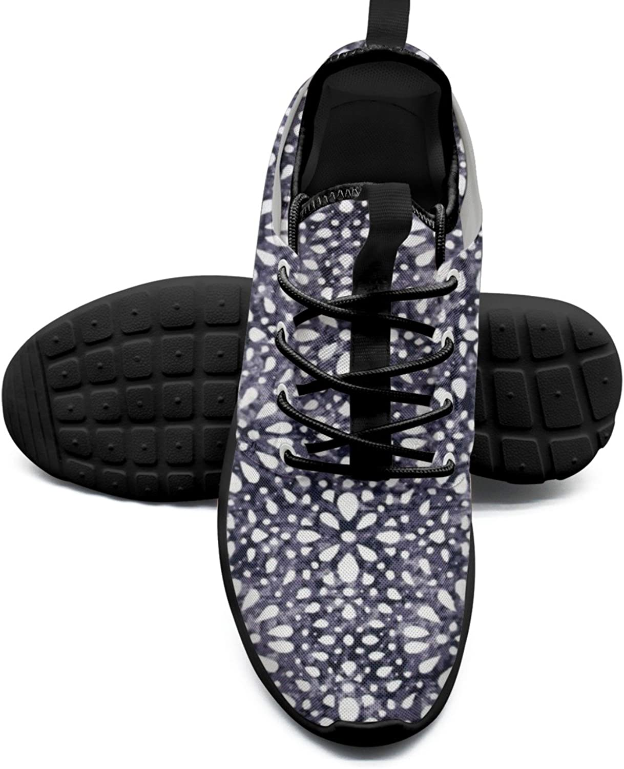 Women's Fashion Lightweight Running Sneakers Abstract Dot Navy White Simple Running shoes