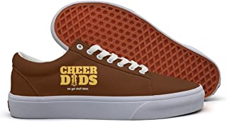 VCERTHDF Cheer Dads Get It Done Classic Classic Slip-On Shoe Mens White
