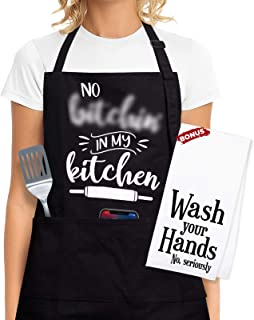 Funny Cooking Apron For Women - Funny Cooking Gifts For Women Who Love To Cook, Gift Aprons For Women With Pockets - Funny...