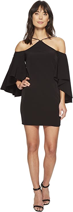 Laundry by Shelli Segal - Fitted Cutaway Neckline Dress with Hi-Lo Cold Shoulder