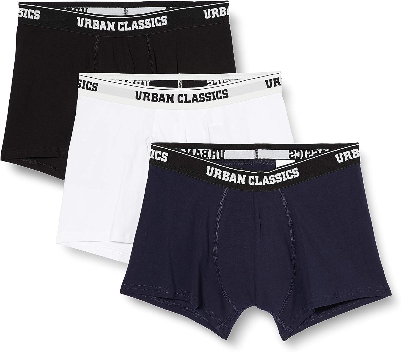 Urban Classics Men Boxer Shorts Organic Pack of 3