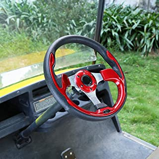 10L0L Golf Cart Steering Wheel or Adapter, Universal Fit for Most Golf cart EZGO Club Car Yamaha