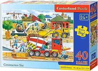 Castorland CSB040018 Premium Construction Site Maxi Jigsaw Puzzle, 40 Pieces Set, Multicolour