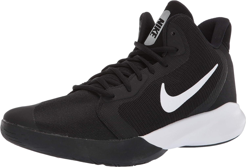 Nike Men's Precision Iii Basketball shoes, (Black White 000), 6 UK