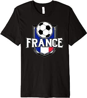 France Soccer Ball T-Shirt | French Flag Football Tee