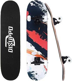 DISUPPO 31'' Standard Skateboard, Pro Complete Skateboard for Beginners, 7 Layer A-Level Maple Deck Skateboards for Boys Girls Adult Teens
