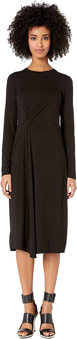 Long Sleeve Side Drape Dress