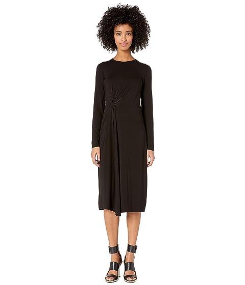 Vince Long Sleeve Side Drape Dress