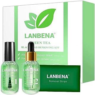 Onkessy Blackhead Remover Mask Serum,Green Tea Oil Blackhead Removal Kit,Blackhead Remover/Shrink Pore Serum with 100PCS S...