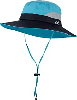 Safari Sun Hat Wide Brim Hat with Ponytail Hole Packable UPF 50+ for Hiking Camping