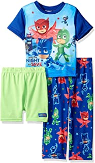 PJ Masks Toddler Boys 3 piece Shorts Pajama Set
